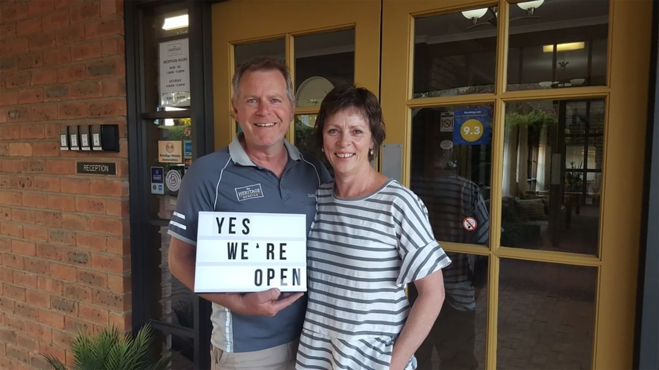 About us – your hosts Darren and Jen at The Heritage Bendigo Motel